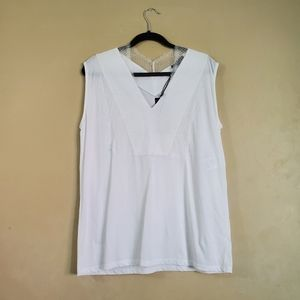 Strenesse White Cotton Top with Lace Detail 8